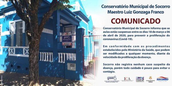 COMUNICADO CORONAVÍRUS (COVID-19)
